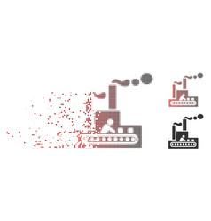 damaged pixel halftone fabric building icon vector image