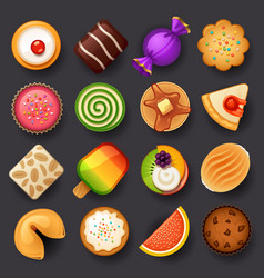 Dessert icon set-3 vector