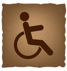 Disabled sign vintage effect vector
