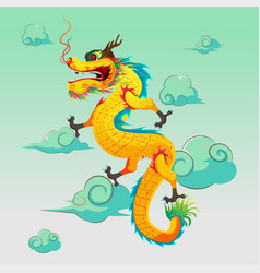 Dragon china art design vector