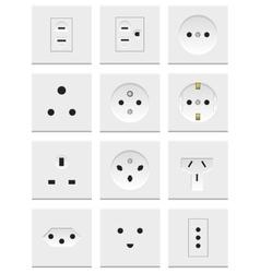 Electric Sockets Set vector