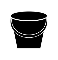 fishing bucket isolated icon vector image