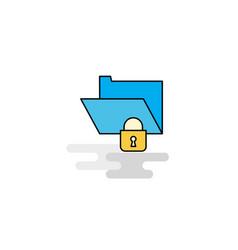 flat locked folder icon vector image