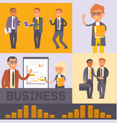 flat people businessman banner vector image
