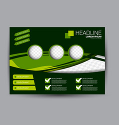 Flyer brochure billboard template landscape vector