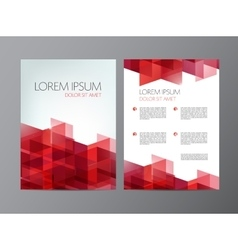 Flyer red brochure abstract design 2 sides vector