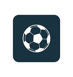 football ball icon Rounded squares button vector image