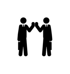 friendship of colleagues icon element of vector image