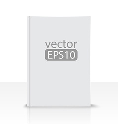 front view blank book on white background vector image
