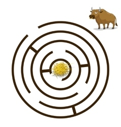 Game labyrinth find a way bull vector