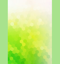 Green eco background with hexagon mosaic vector