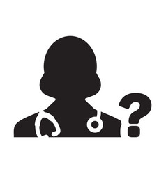 Healthcare icon doctor female person profile vector
