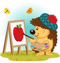 Hedgehog artist vector