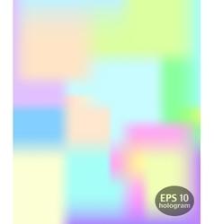 Hologram colorful background vector