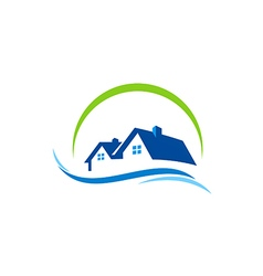 house water construction logo vector image