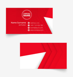 Indonesia flag business card standard size 90x50 vector