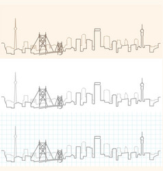 Johannesburg hand drawn skyline vector