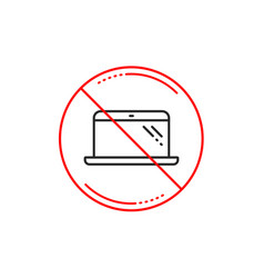 laptop line icon mobile computer device sign vector image