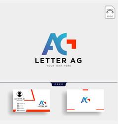 Letter ag or g creative logo template vector