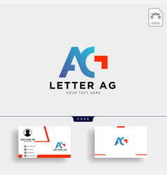 letter ag or g creative logo template with vector image