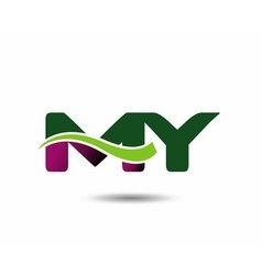 Letter M and Y monogram logo vector image
