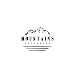 minimalist landscape hill mountain logo design vector image