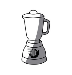 Monochrome silhouette of kitchen blender vector