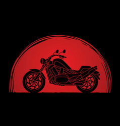 Motorbike side view vector