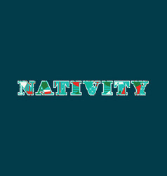 Nativity concept word art vector
