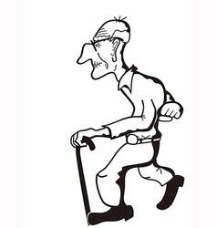 Old man outline vector