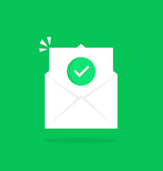 Open letter like confirmation email vector