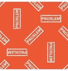 Orange PROBLEM stamp pattern vector