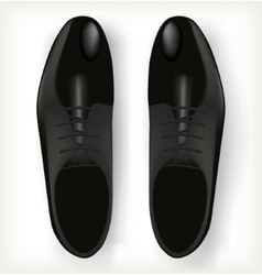 Pair of mens shoes in classic style vector