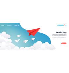 Paper leadership landing creative concept idea vector
