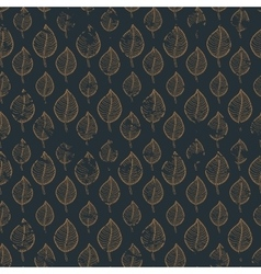 Pattern leafs gold vector image