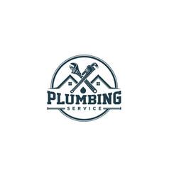 Plumbing service logo design - modern logo vector