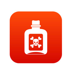 Poison icon digital red vector