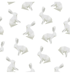 rabbit triangle shape seamless pattern backgrounds vector image