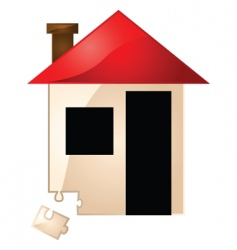 real estate missing piece vector image