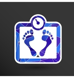 Scale icon iweight diet symbol dieting vector