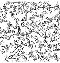 Seamless background with branches of beautiful vector