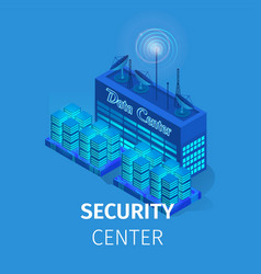 security center square banner energy station vector image