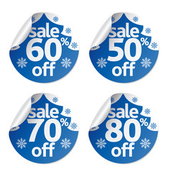 Set christmas sale stickers vector
