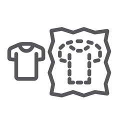 Sewing pattern line icon dressmaking and sew vector