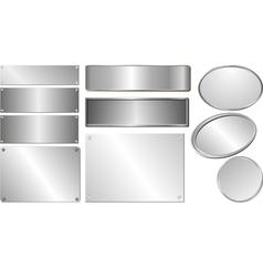 Silver plaques vector