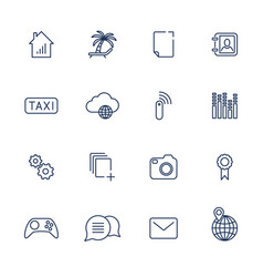 Simple ui icons for app sites programs vector