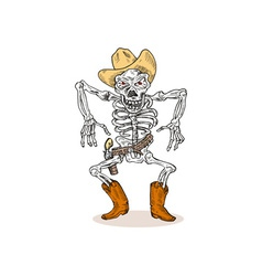 Skeleton Cowboy vector