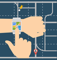 smart watch navigator vector image