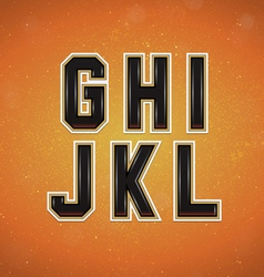 sport style font from g to l vector image