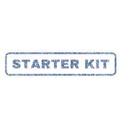 Starter kit textile stamp vector